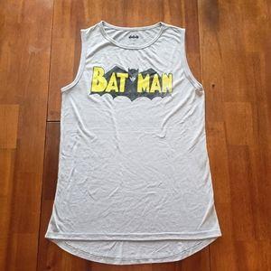 Gray Black & Yellow Batman Tank Top